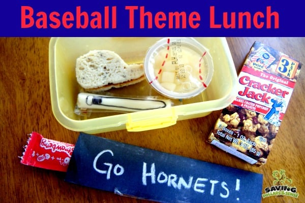 Baseball Theme Lunch