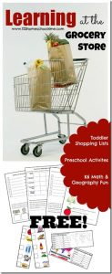FREE Learning at the Grocery Store Activity Kit!