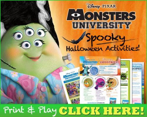 Monsters University Spooky Halloween Activities!