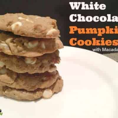 White Chocolate Pumpkin Cookies with Macadamia Nuts
