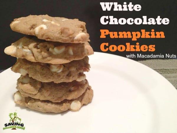 White Chocolate Pumpkin Cookies w/ Macadamia Nuts