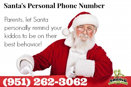 Santa's personal Phone Number for kids to call in December.
