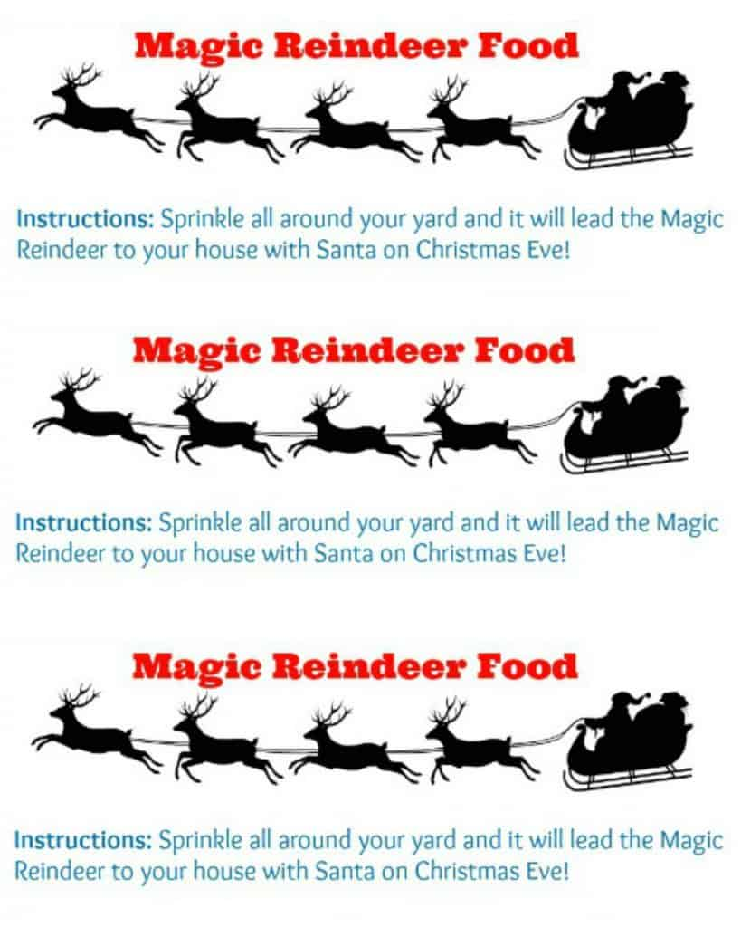Magic Reindeer Food Printable