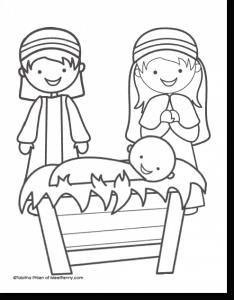 FREE Nativity Printable Coloring Sheet!