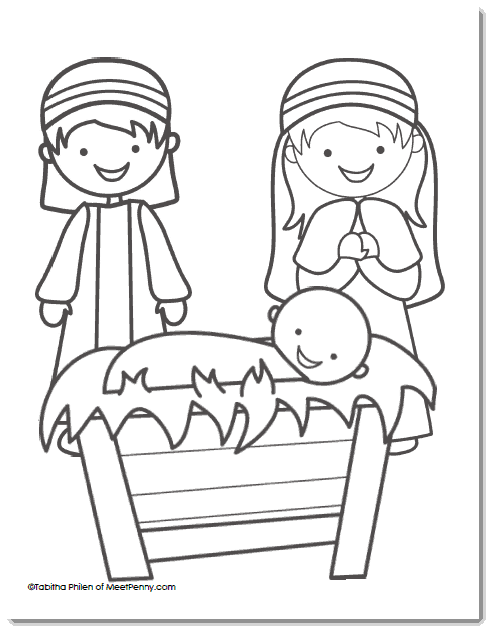 FREE Nativity Printable Coloring Sheet! - Saving Dollars ...
