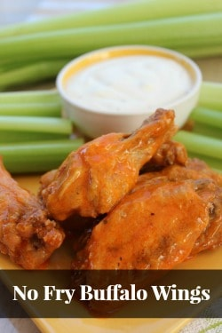 No Fry Buffalo Wings sidebar