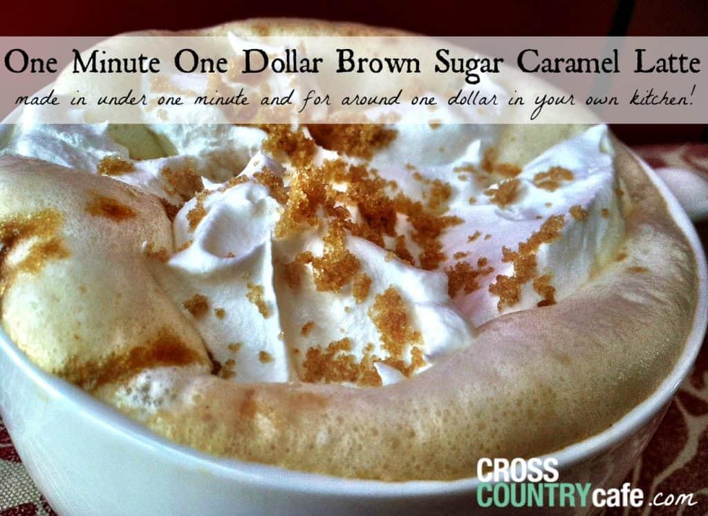 One Minute Brown Sugar Caramel Latte Recipe!
