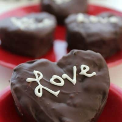 Delicious cream filled chocolate covered brownies are a perfect valentine's day recipe