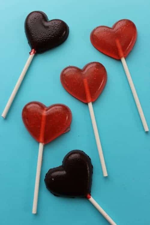 DIY heart suckers