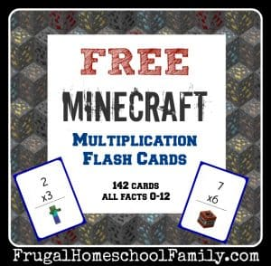 Free Minecraft Flash Cards