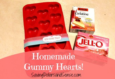 Homemade Gummy Candy Hearts Recipe