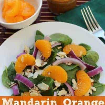 Mandarin Orange Spinach Salad