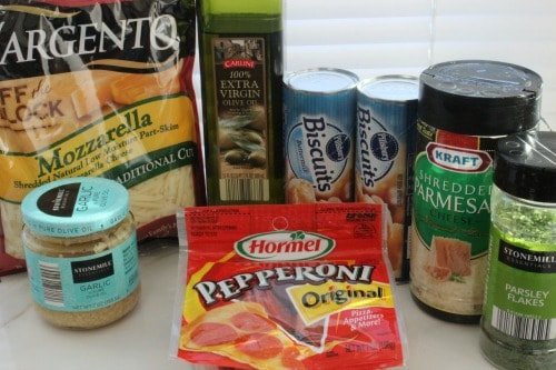 Ingredients for Biscuit Pizza Bread