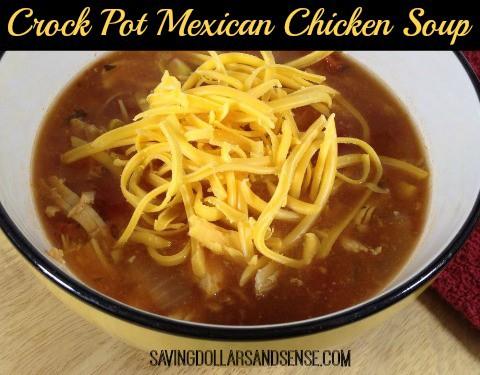 Crock Pot Mexican Chicken Soup