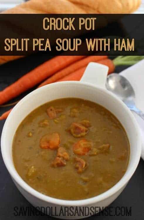 Crock Pot Split Pea Soup with Ham Recipe