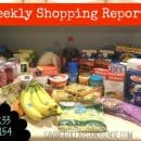 A kitchen counter full of healthy groceries and other food.