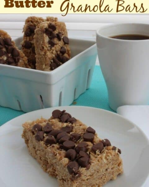 peanut butter chocolate granola bars