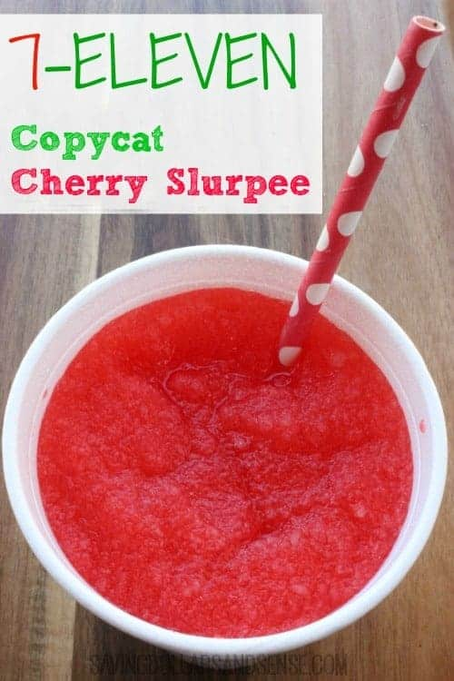 Copycat 7-11 Cherry Slurpee Recipe