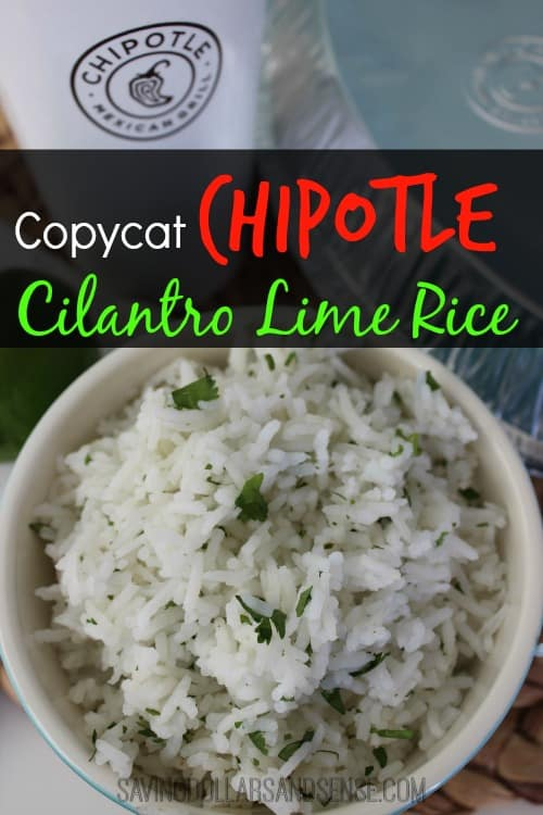 ... great time to share this Copycat Chipotle Cilantro Lime Rice recipe