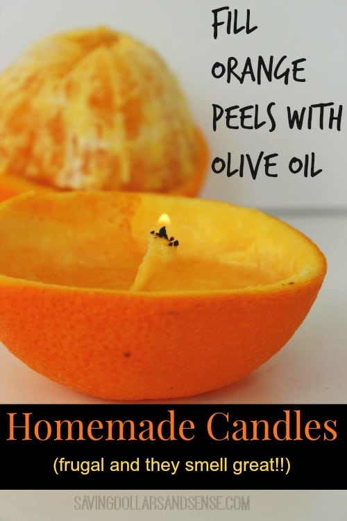 homemade Orange Candles