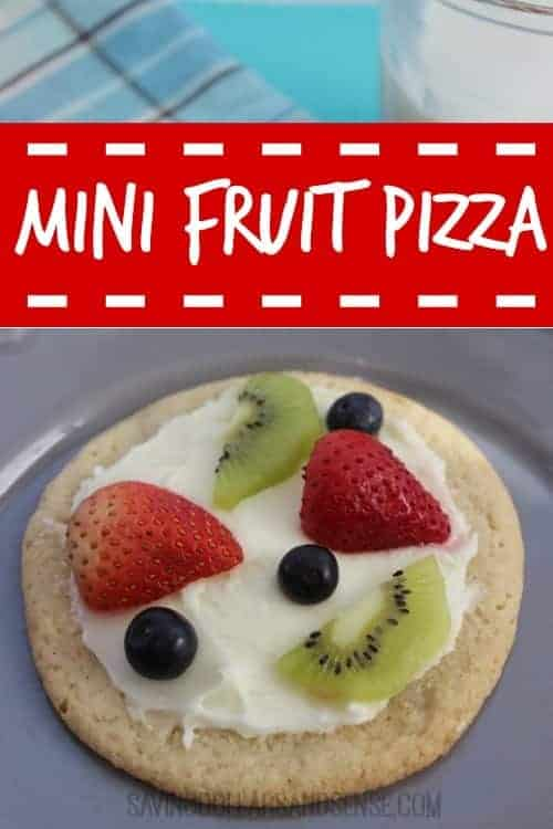These Mini Fruit Pizzas are so easy to make and you family will love ...
