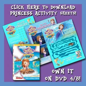 Sofia the First FREE Activity Sheets