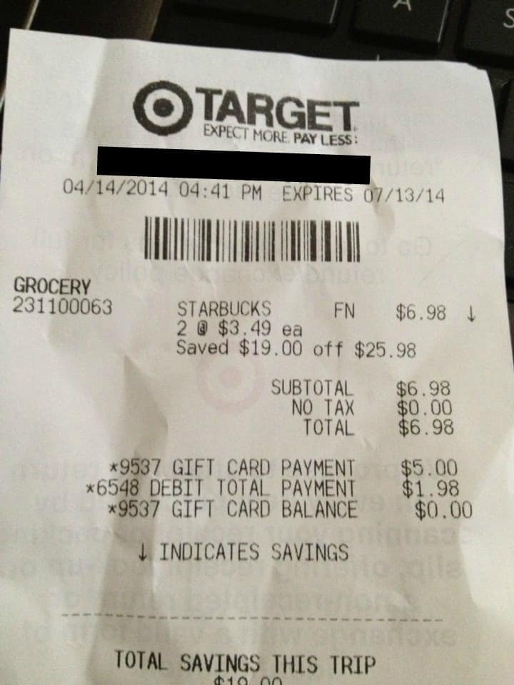 target coupon 10 gift card grocery. Black Bedroom Furniture Sets. Home Design Ideas