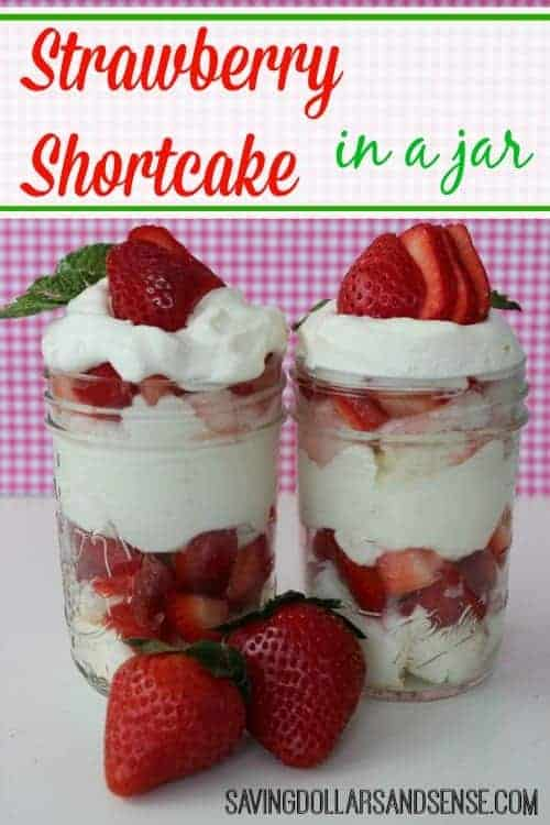 strawberry shortcake in a jar