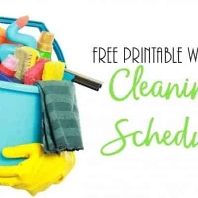 Weekly Cleaning Schedule Printable