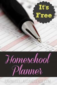Free Homeschool Planner!