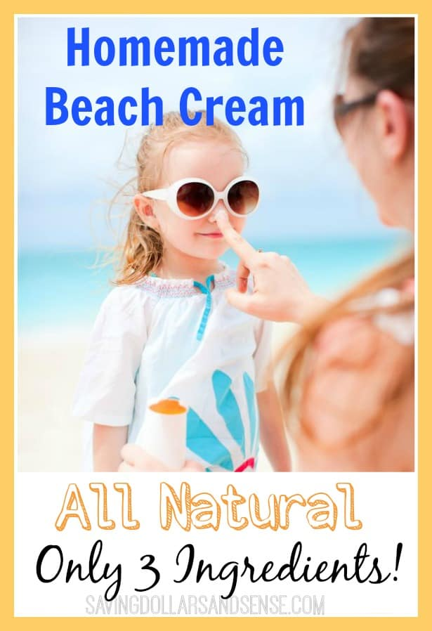 Homemade Beach Cream