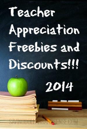 Teacher Appreciation Freebies and Discounts