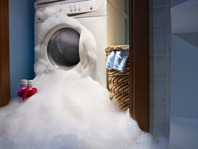 Washing machine overflows