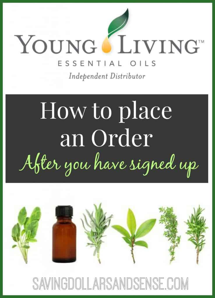 Young Living How to Place an Order