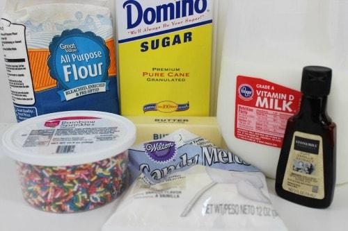Funfetti Bites Ingredients