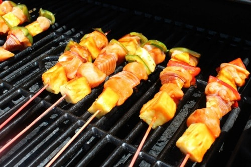 Grilling Chicken Pineapple Kabobs