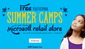 Free Microsoft Kids Summer Camp