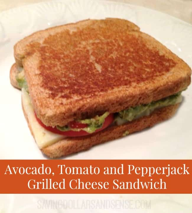 avocado tomato pepperjack sandwich