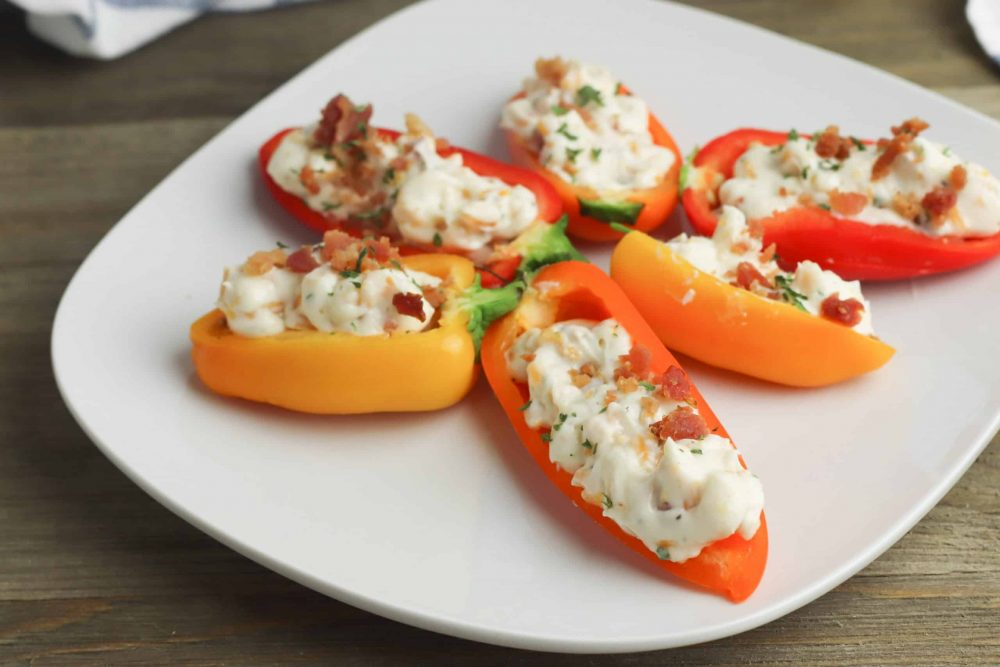 no bake stuffed mini peppers