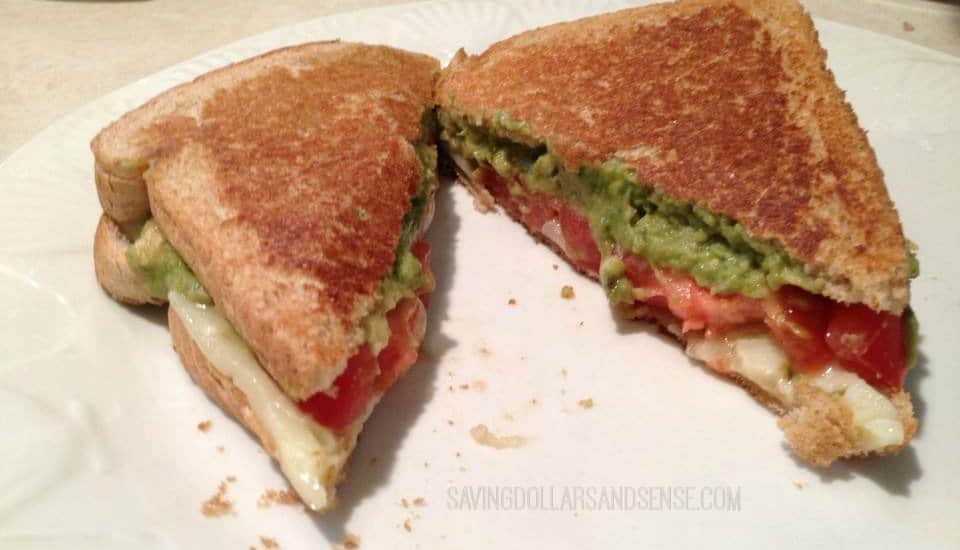 grilled avocado tomato and pepperjack