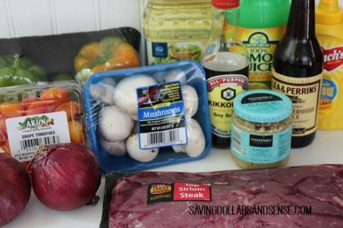 steak kabob ingredients