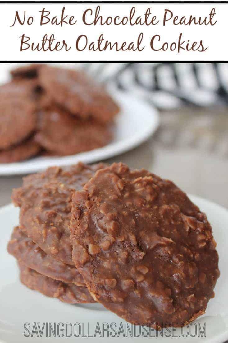 Peanut Butter Chocolate Oatmeal Cookies Recipes — Dishmaps