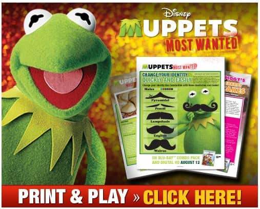 Muppets Most Wanted Free Activities