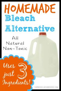 Homemade All Natural Non-Toxic Bleach