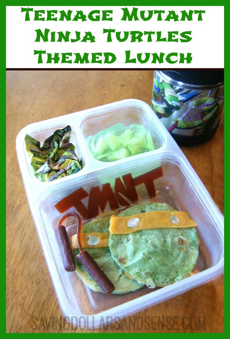 Ninja Turtles Themed Lunch