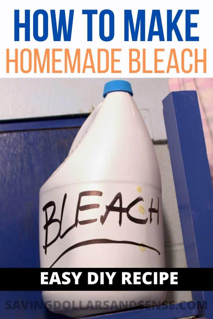 Homemade Bleach Recipe