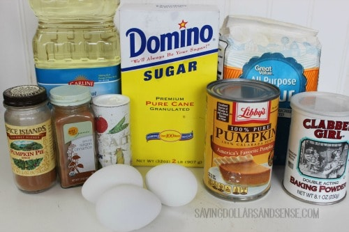 Pumpkin Doughnuts Ingredients