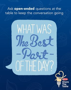 Family conversation questions for the dinner table. Tips For Creating Meaningful Family Meals