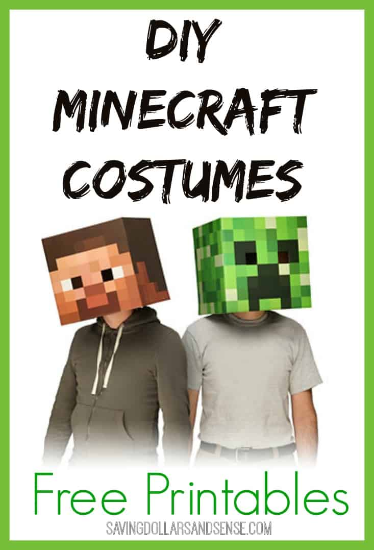 photo regarding Minecraft Mask Printable named Do-it-yourself Minecraft Gown Tips