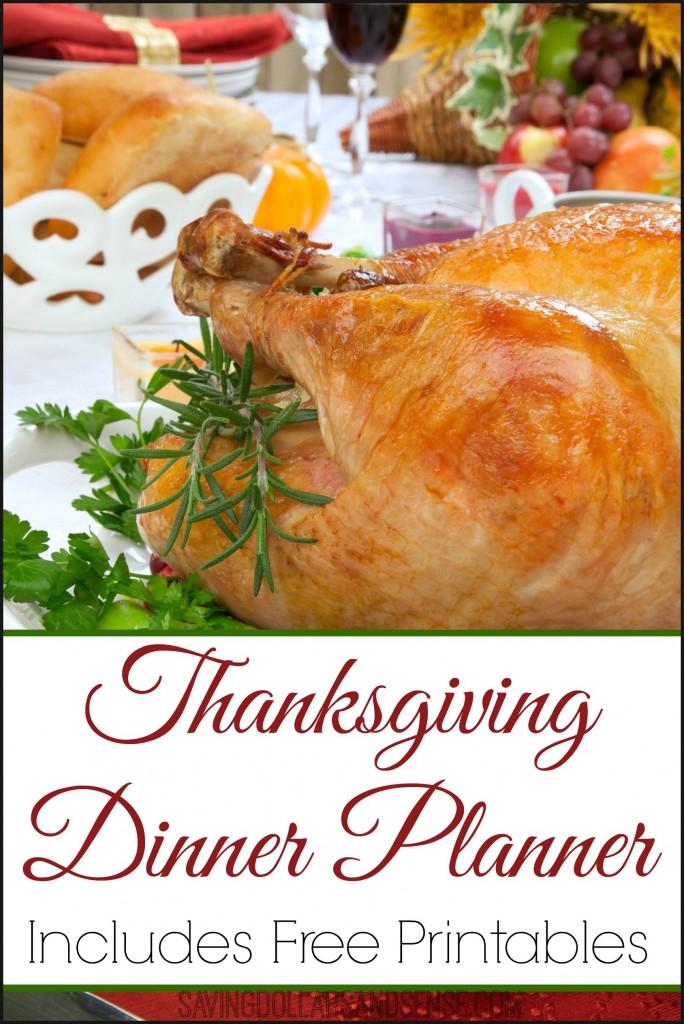 Free Thanksgiving Dinner Planner